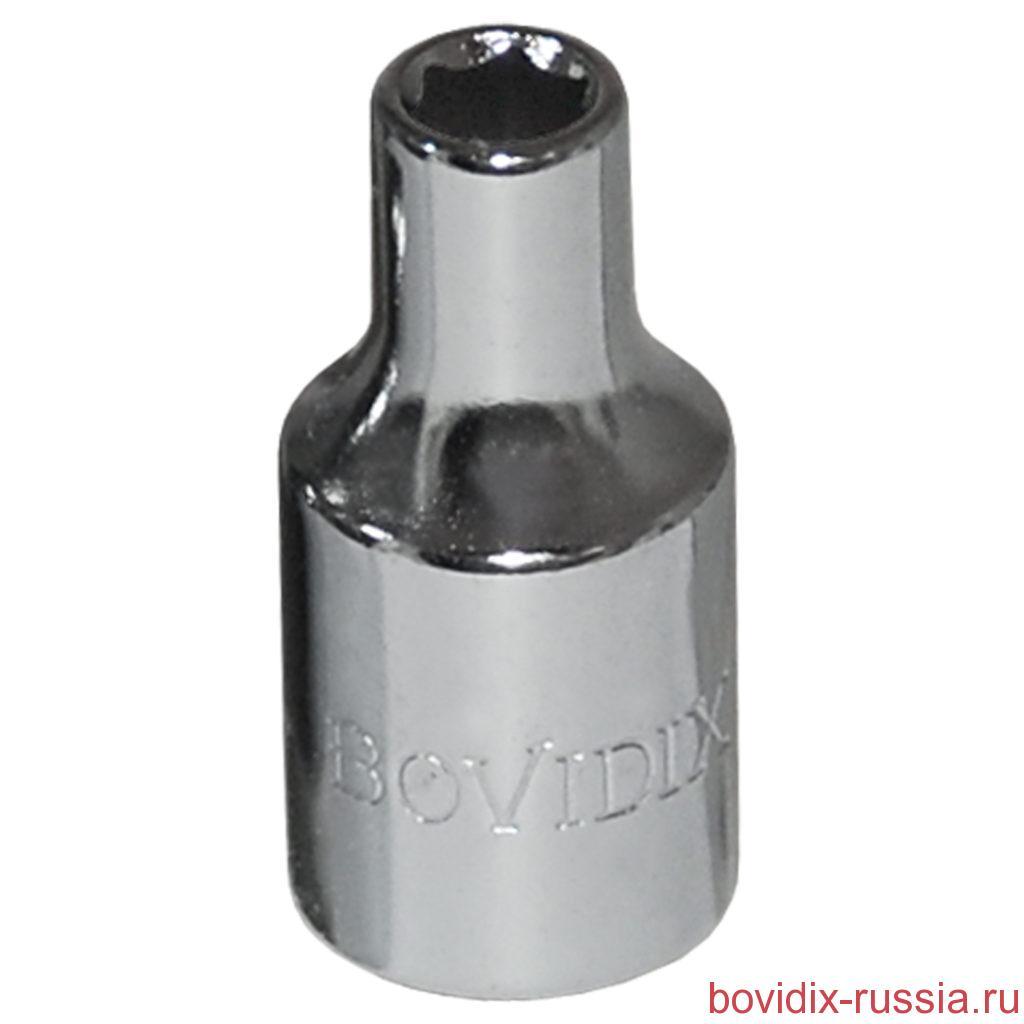 """Торцевая головка 1/4"""" Bovidix, 4 мм, с хромированным покрытием"""