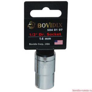 "Торцевая головка Bovidix на 1/2"", 6 граней, 14 мм, хромированная"