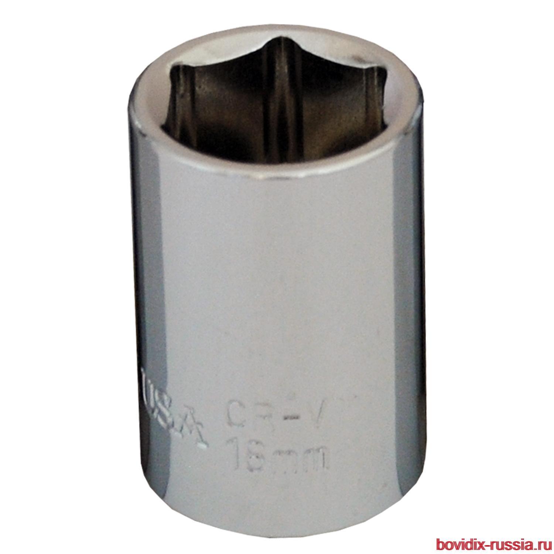 "Торцевая головка Bovidix на 1/2"", 6 граней, 18 мм, хромированная"