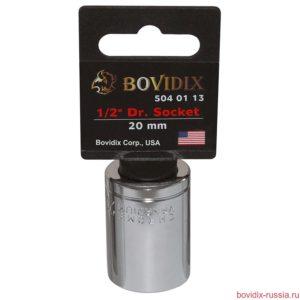 "Торцевая головка Bovidix на 1/2"", 6 граней, 20 мм, хромированная"