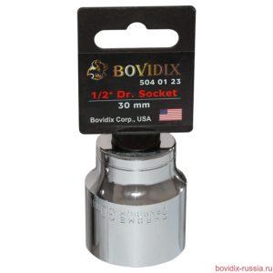 "Торцевая головка Bovidix на 1/2"", 6 граней, 30 мм, хромированная"