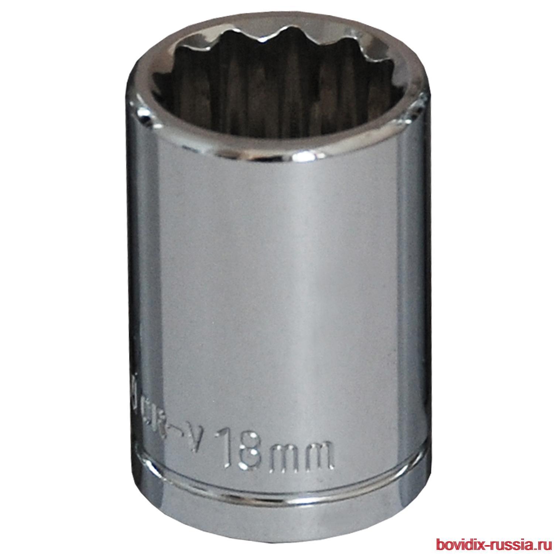 """Торцевая головка 1/2"""" Bovidix, 18 мм"""