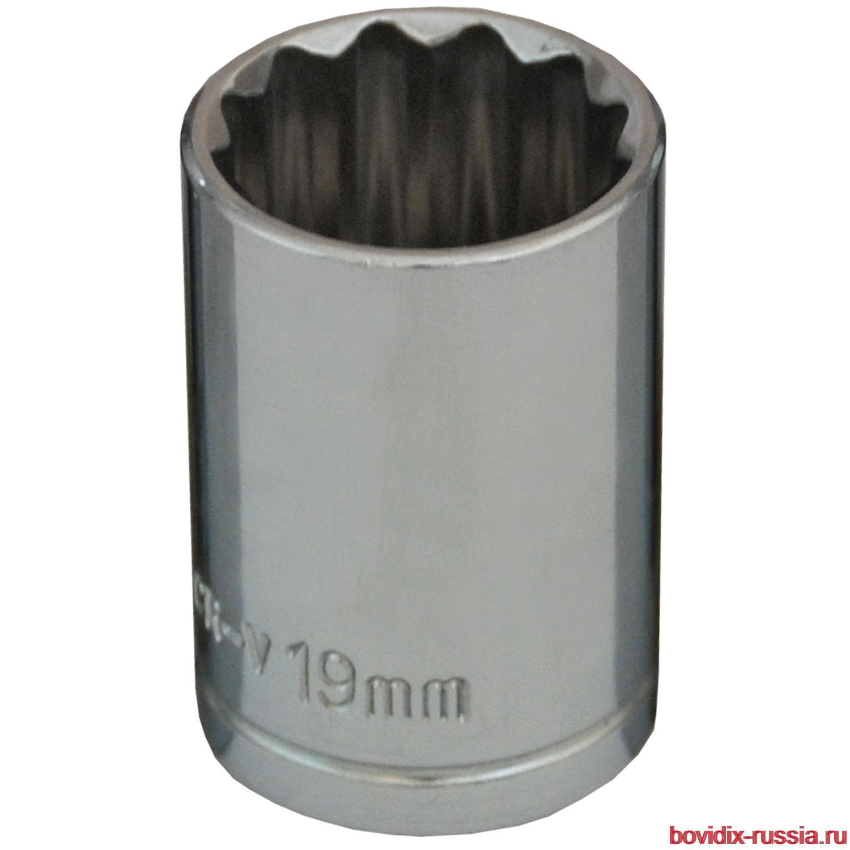 """Торцевая головка 1/2"""" Bovidix, 19 мм"""