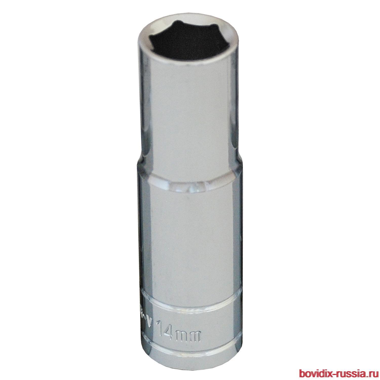 """Удлиненная торцевая головка 1/2"""" Bovidix, 6 граней, 14 мм"""