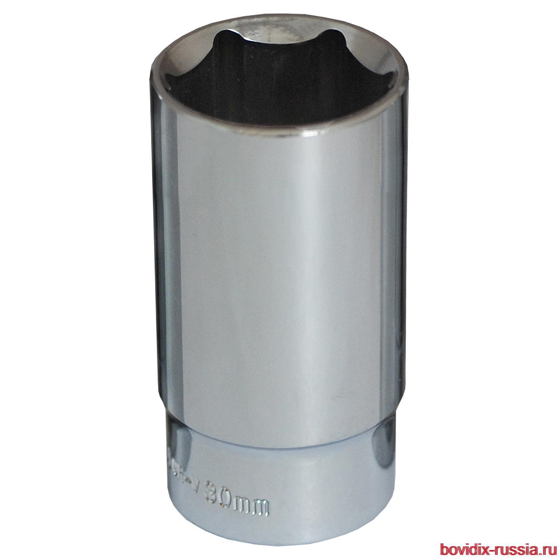 """Удлиненная торцевая головка 1/2"""" Bovidix, 6 граней, 30 мм"""