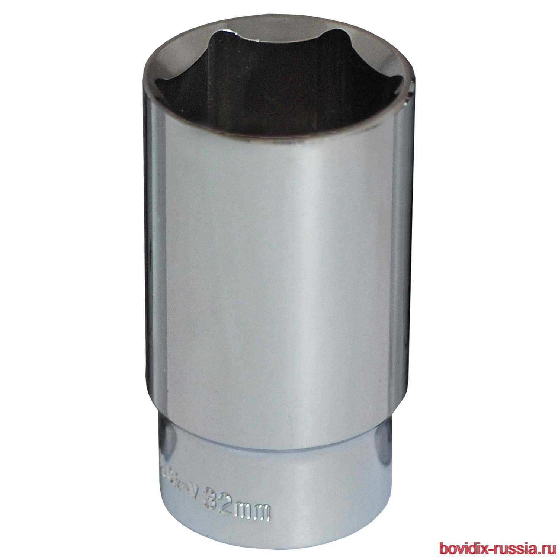 """Удлиненная торцевая головка 1/2"""" Bovidix, 6 граней, 32 мм"""