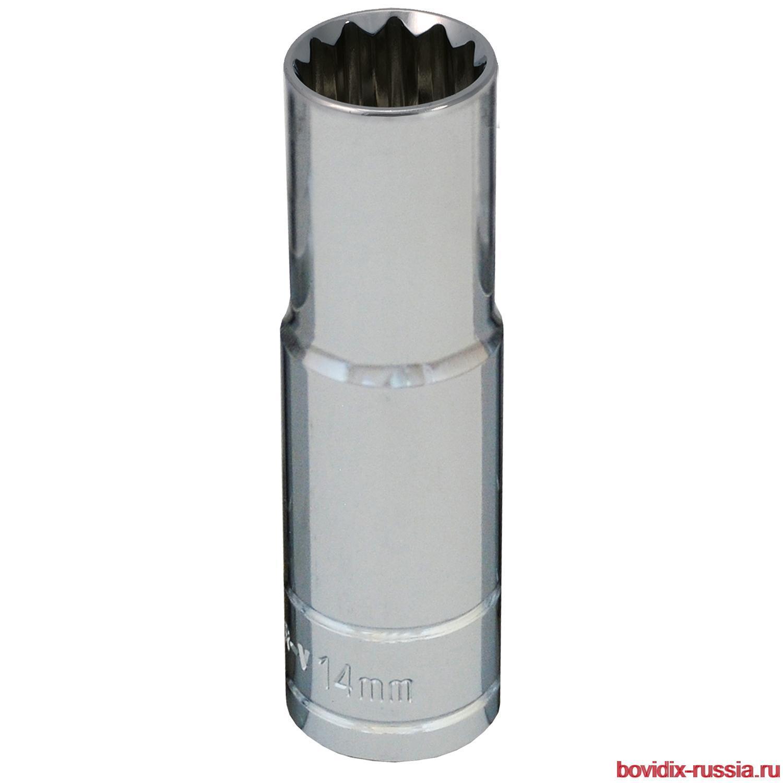 """Удлиненная торцевая головка 1/2"""" Bovidix, 14 мм"""