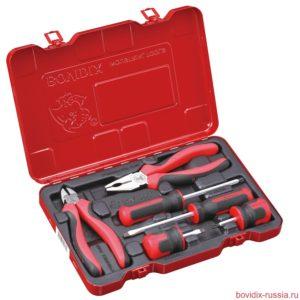 Универсальный набор ручного инструмента Bovidix в металлическом кейсе