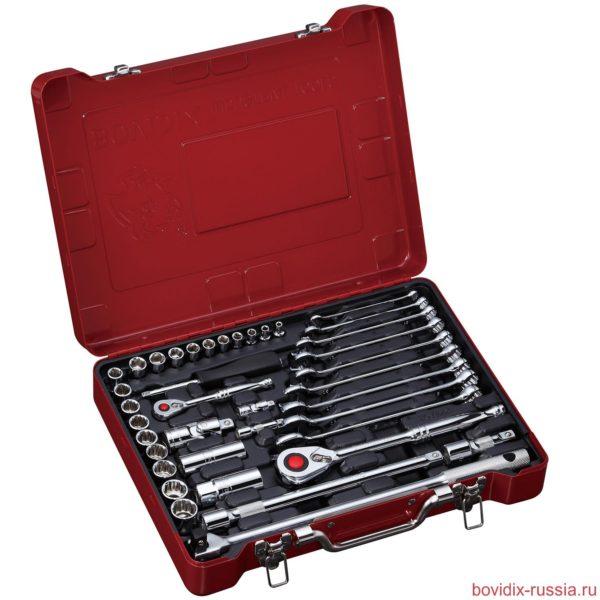 Набор ключей и торцевых головок Bovidix в металлическом кейсе
