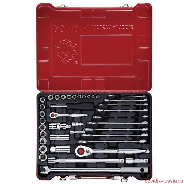 Набор ключей и торцевых головок Bovidix (39 предметов) в металлическом кейсе
