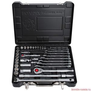 Набор ключей и торцевых головок Bovidix (39 предметов) в металлическом кейсе черного цвета