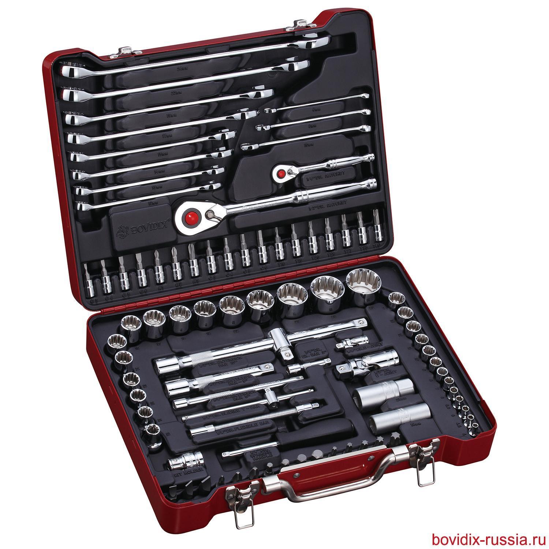 Набор ключей и торцевых головок Bovidix (87 предметов)