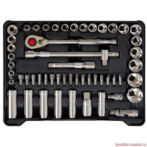 Набор торцевых головок и трещоточных ключей Bovidix в ложементе
