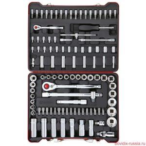 Набор торцевых головок и трещоточных ключей Bovidix в металлическом кейсе