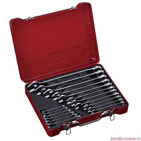 Набор комбинированных гаечных ключей в металлическом кейсе Multibox System ® (размер L)
