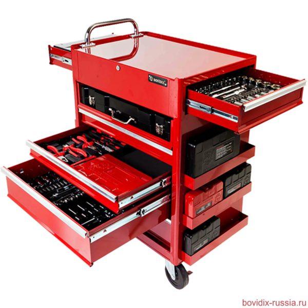 Тележка инструментальная на колесах, с ящиками Multibox® Bovidix